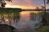 Белое озеро на границе Московской и Владимирской области - одно из любимейших мест для погружений в выходные для многих московских дайверов. Я там была всего один раз, и попала на вот такой шикарный закат. Надеюсь, мне удалось передать его красоту.