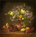 цветы , фрукты
