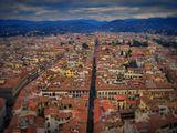 Флоренция (итал. Firenze).Снято с собора Санта-Мария-дель-Фьоре (Дуомо).