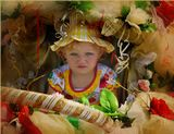 Фото сделано во время конкурса детских колясок