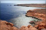 """Рас Махамед - самый """"пик"""" Синайского полуострова. Левее и ближе ботов - залив Акаба, правее - Суэтский, а прямо - Красное море."""