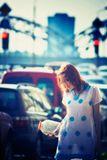 Модель Алисадевушка,улица, Рига, светофоры, авто,банка