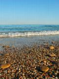Крым море галька волна