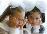 """Первый раз в первый класс... праздник несколько утомил """"новобранцев""""...)))"""