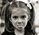 я ей показал язык, она - мне... дети... что с них возьмешь? :)