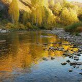 Вечер, река Белая и БУЙСТВО Осени...Вечер, река, Осень