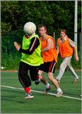 Любительская съемка любительского футбола.
