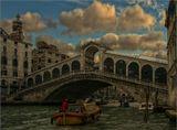 Является самым первым и самым древним мостом через канал. Первоначально был деревянным, был разрушен во время мятежа.После обрушения 2-х разводных частей моста в XVI веке,дож Паскуале Чиконья принял решение построить более прочное каменное сооружение, под аркадами которого могли бы разместиться торговые лавки.В конкурсе принимали участие такие знаменитые архитекторы,как Микеланджело,Палладио и Сансовино,но предпочтение было отдано Антонио деПонте