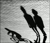 тени велосипед графика