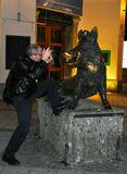 Мюнхен, Бавария, Мариенплац, кабан, памятник ,фотограф, Европа, Nikon, вепрь, памятник кабану