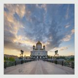 Москва, Храм Христа Спасителя, май 2009. iHDR-панорама.