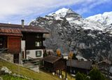Европа, Швейцария, Шильтхорн, облака, горы, снег, деревня