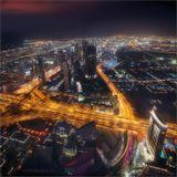 Снимок сделан со смотровой площадки самого высокого здания в мире - Бурдж Халифа.(822 метра)Палуба обозрения находится на 124 этаже, путь к которой на лифте занимает больше минуты.
