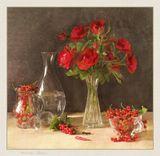 цветы , ягоды ,натюрморт