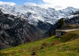 Европа, Швейцария, Шильтхорн, горы, снег, осень