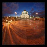 Москва, Храм Христа Спасителя, май 2009, панорама из 15 кадров на 12мм