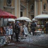 Про зимний арт-рыноки про то, как Сльвадор Дали и Джек Воробей в Питере зимовали