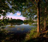 Борские озера в Нижегородской областиозеро, закат, вода, рыбалка