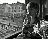 Кафе в Доме книги на углу Невского и канала Грибоедова