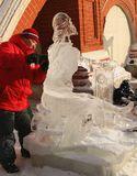 Ледяные скульптуры у собора Василия Блаженного.Иконописец Андрей Рублев.Всех со светлым праздником Рождества!!!