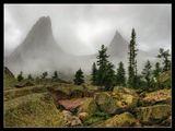 Западные Саяны, природный парк Ергаки, гора Парабола, туман