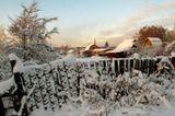 Целый день блуждал я по зимнему лесу, то падая в снег в поисках оптимального ракурса, то рыская в зарослях ельника, пытаясь протиснуться к редким лучикам нежного январского солнца, то распугивая заспанных зайцев и вездесущих ворон, ругаемый лыжниками, поскольку портил им лыжню. И вот вместо ожидаемой поляночки предстала мне на первый взгляд невзрачная, а для кого-то дорогая частная собственность. А путь преградил стоящий из последних сил забор…