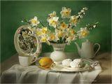 натюрморт , цветы , нарциссы