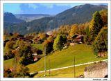 Тёплый октябрь – как щедрота судьбы. Осень щадящая, жёлто-багряная. ..................................... Тёплый октябрь – далеко не всегда. Просто случайно там что-то нарушено. Жить бы и жить, коли хоть иногда Всё же везет... просто так. Незаслуженно...                                           Борис Комиссаров  Швейцария. В окрестностях Гриндельвальда.