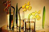 натюрморт,секло,стакан,посуда,букет,цветы
