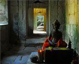 В одном из храмов Ангкора (Камбоджа).