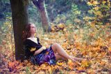 осень, девушка
