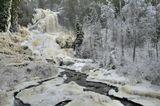 Водопад на границе Швеции с Норвегией.