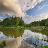Беларусь, г.Могилев, Печерское водохранилище. HDR-панорама 3x2 кадра на 12мм (эксповилка -1.7, 0, +1.7 eV)