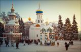 Троице-Сергиева Лавра.Сергиев-Посад.Январь.2011 год.Храм,пейзаж,зима.