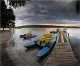 Закат на Краснооскольском водохранилище в с.Яцковка