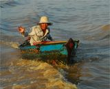 На озере Тонлесап (Камбоджа).