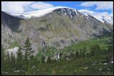 Алтай, долина р.Текелю, Лето, водопады