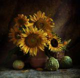 Декоративные тыквы,цветы