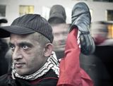 11.02.2011Берлин. Ночная демонстрация у Бранденбургских воротвыдержка 0.5 сек