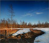 близ реки Пахомыч Ягоднинского района Магаданской областиКолыма, природа, пейзаж, снег, весна