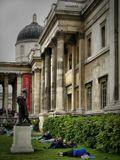 Утро на Трафальгарской  площади.Лондон