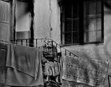 улица, дом, старушка, старость, печаль