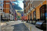 Улица Воздвиженская в центре Киевамай 2011г.