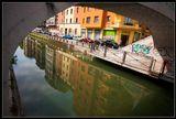 Справа от новых Тичинских ворот начинается самое живописное в Милане место — район Навильи (Navigli, то есть «каналы»).