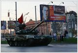 Подготовка к параду на Красной площади. Вечерняя съемка.