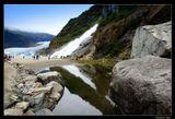 *  *  *В окрестностях города Джуно - столицы Аляски. Водопад и ледник Менденхолл. *  *  *