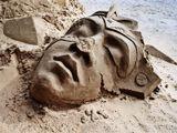 ..остатнки песчаной фигуры.
