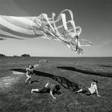 дети  воздушный змей  игра