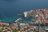 Дубровник, вид сверху, Хорватия.