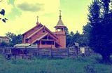 Строящаяся церковь    церковь,пейзаж,архитектура,лето